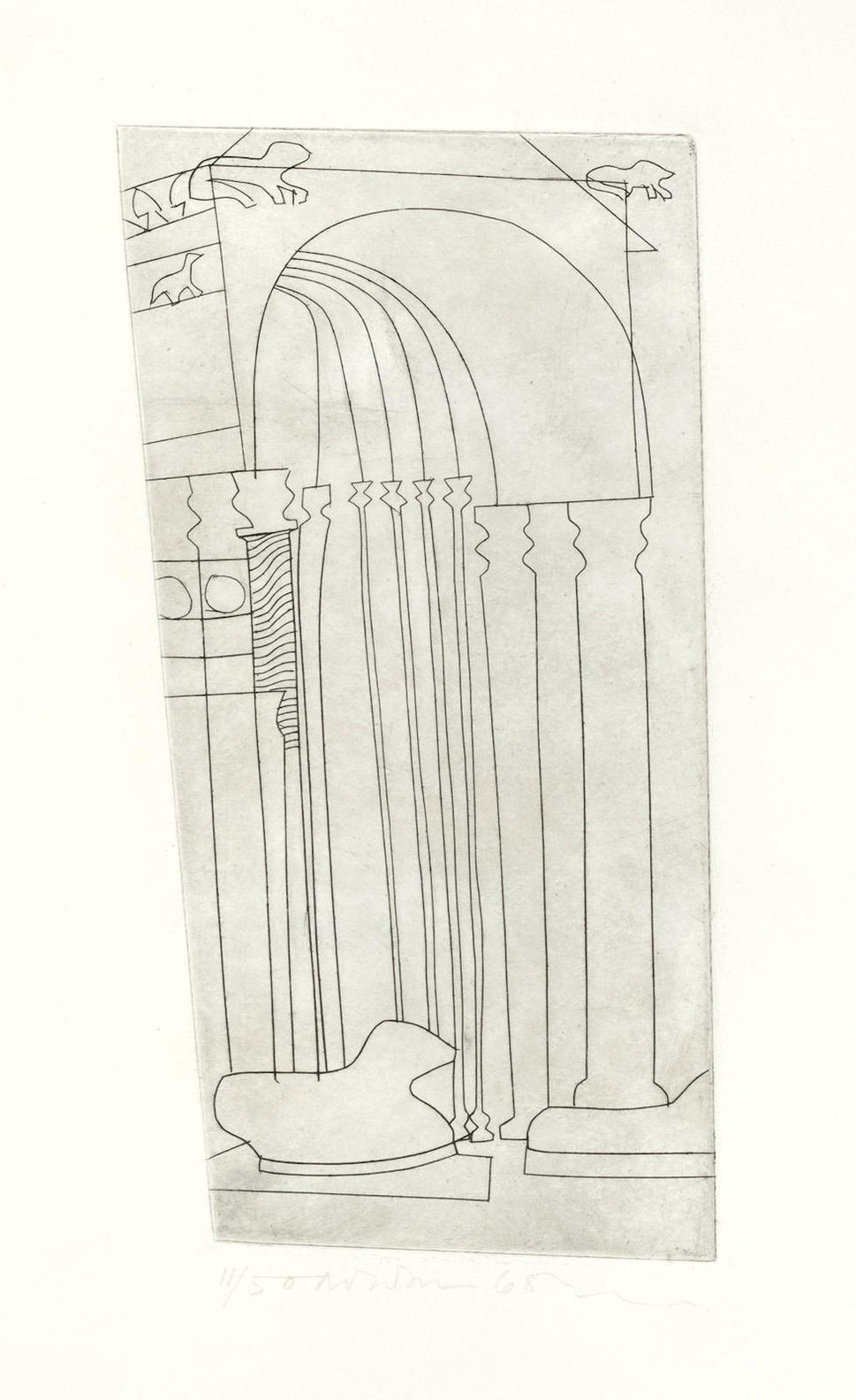 Ben Nicholson-Verona (The Duomo), From Architectural Suite (Lafranca 30;Cristea 127)-1966