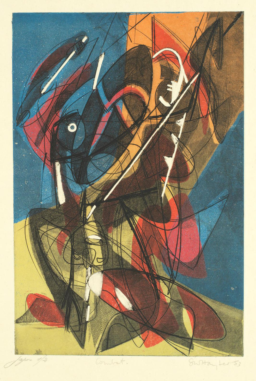 Stanley William Hayter-Combat(Black & Moorhead 210)-1953