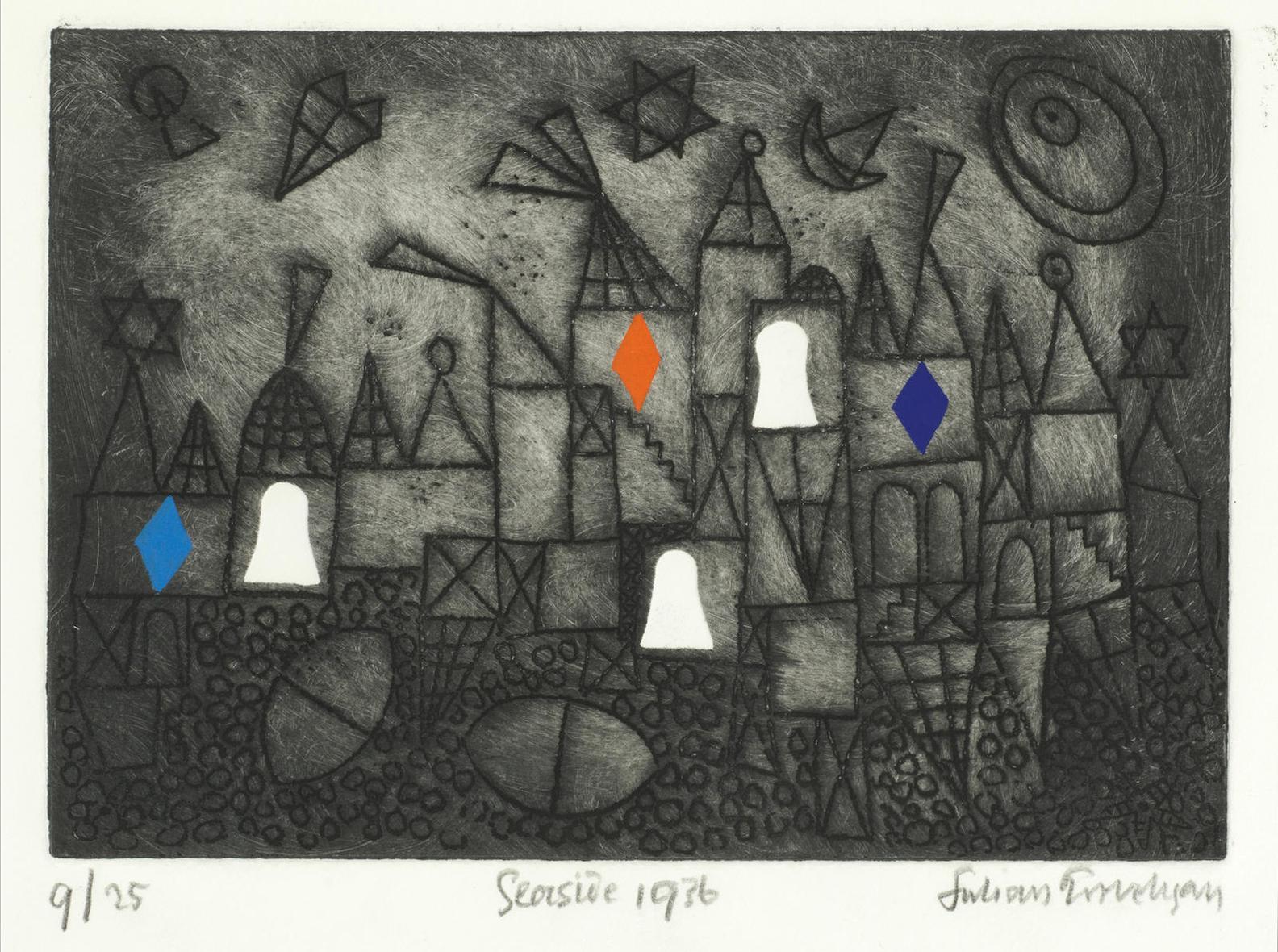 Julian Trevelyan-Seaside (Turner 46)-1972