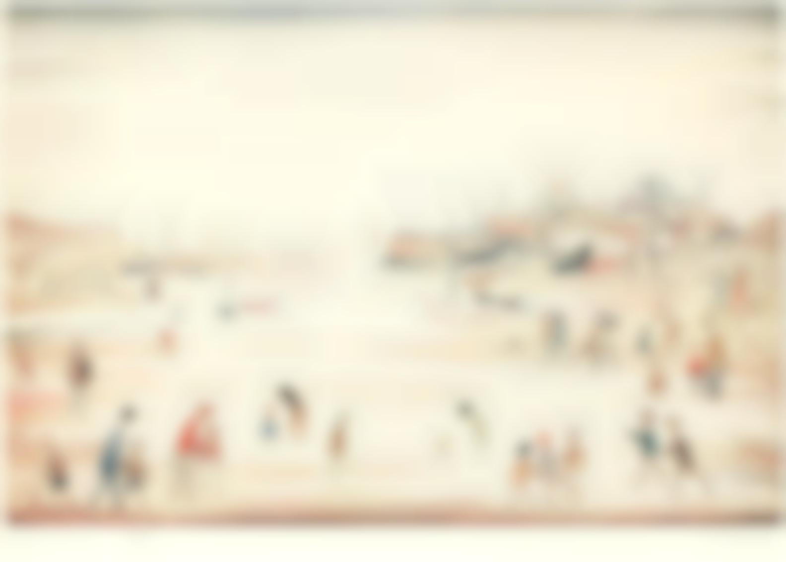 Laurence Stephen Lowry-On The Sands-