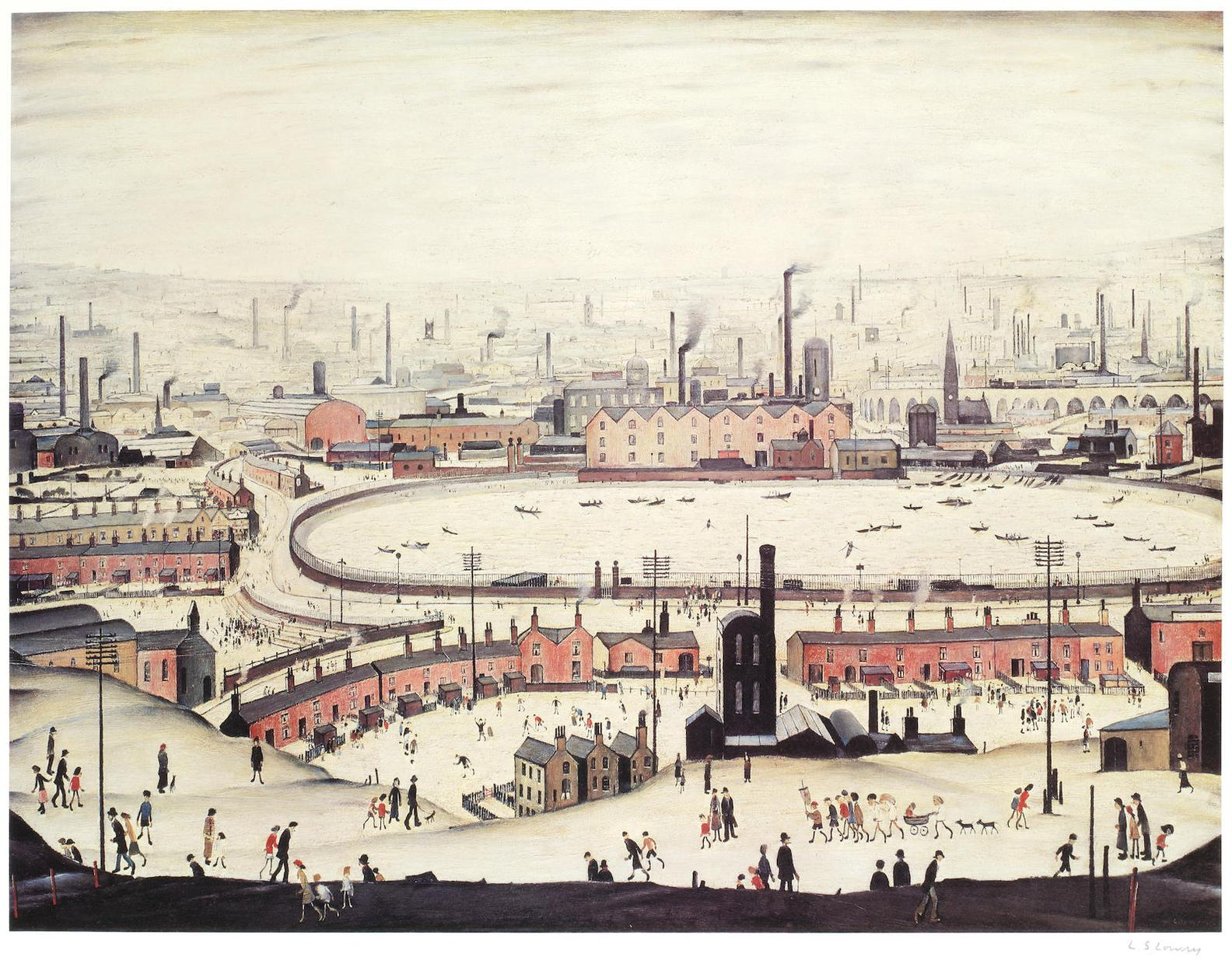 Laurence Stephen Lowry-The Pond-1974