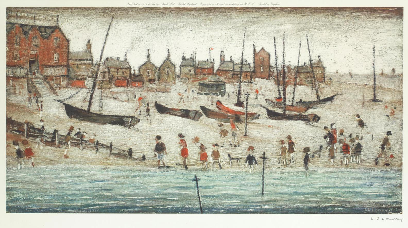 Laurence Stephen Lowry-Deal Beach; Deal Sketch-1973