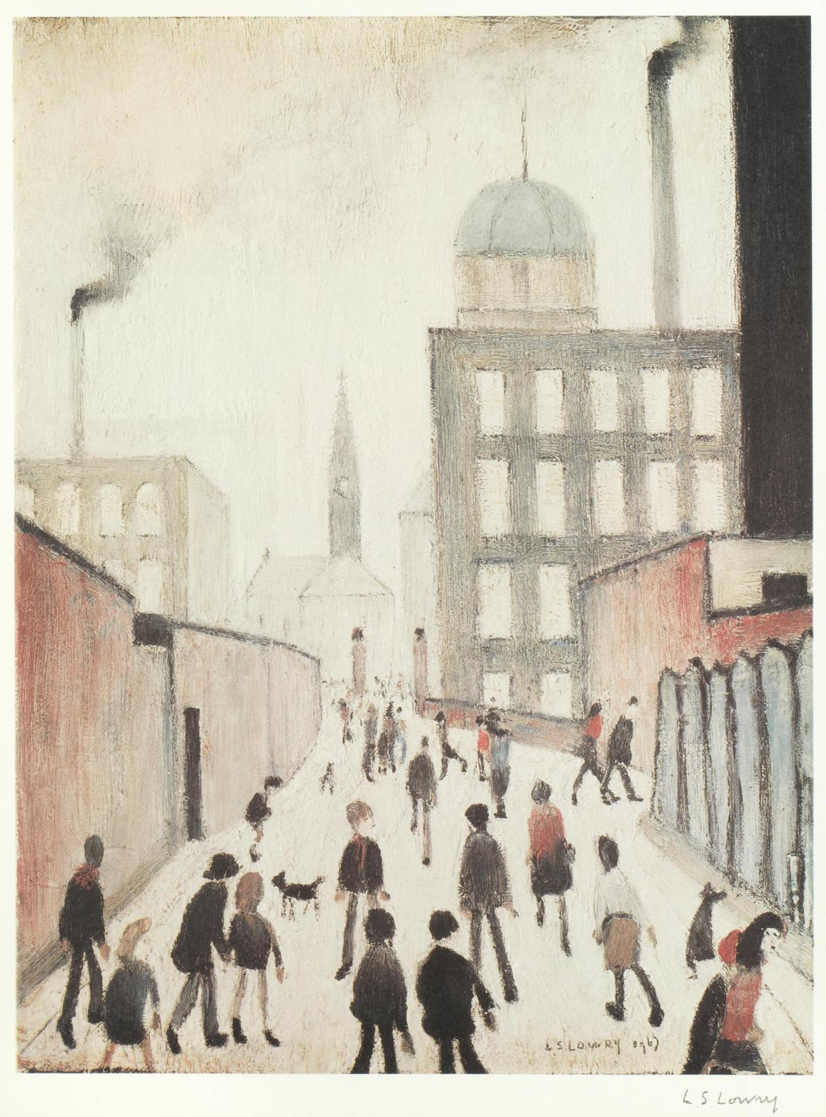 Laurence Stephen Lowry-Mrs Swindells Picture-