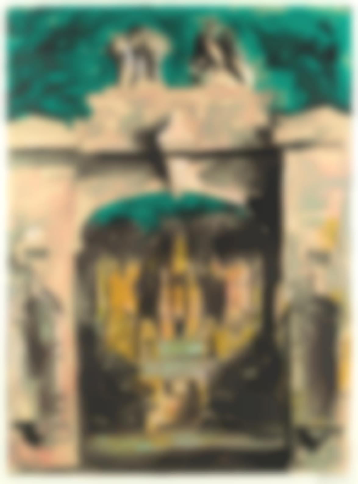 John Piper-Harlaxton Through The Gate (Levinson 275)-1977