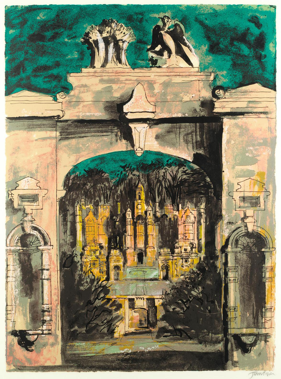 John Piper-Harlaxton Through The Gate (Levinson 275)-1977