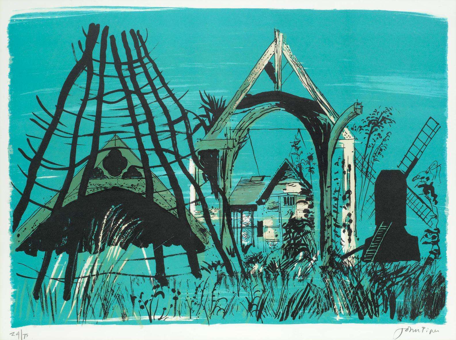 John Piper-Avoncroft Museum (Levinson 258)-1976