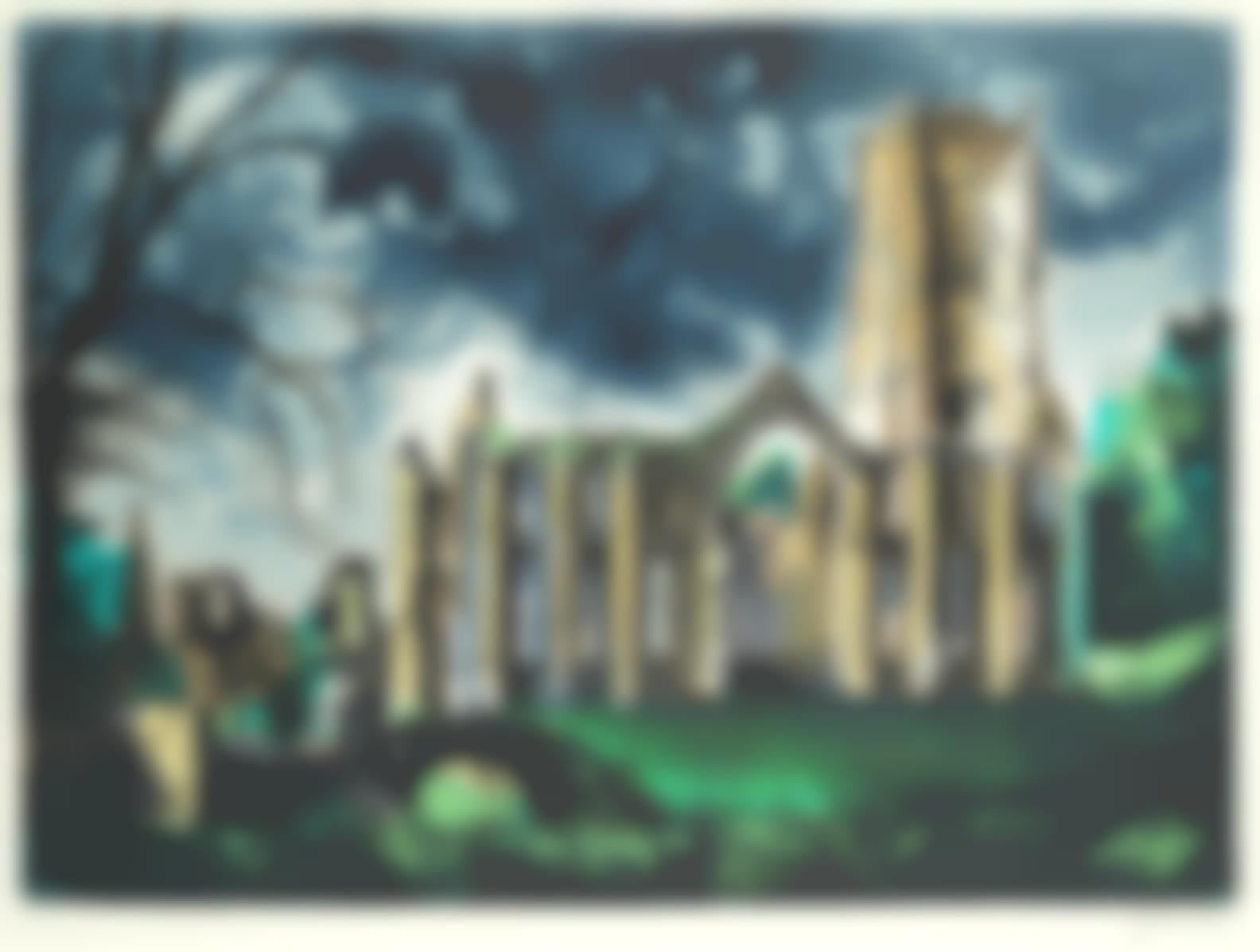 John Piper-Fountains Abbey, Yorkshire (Levinson 351)-1983