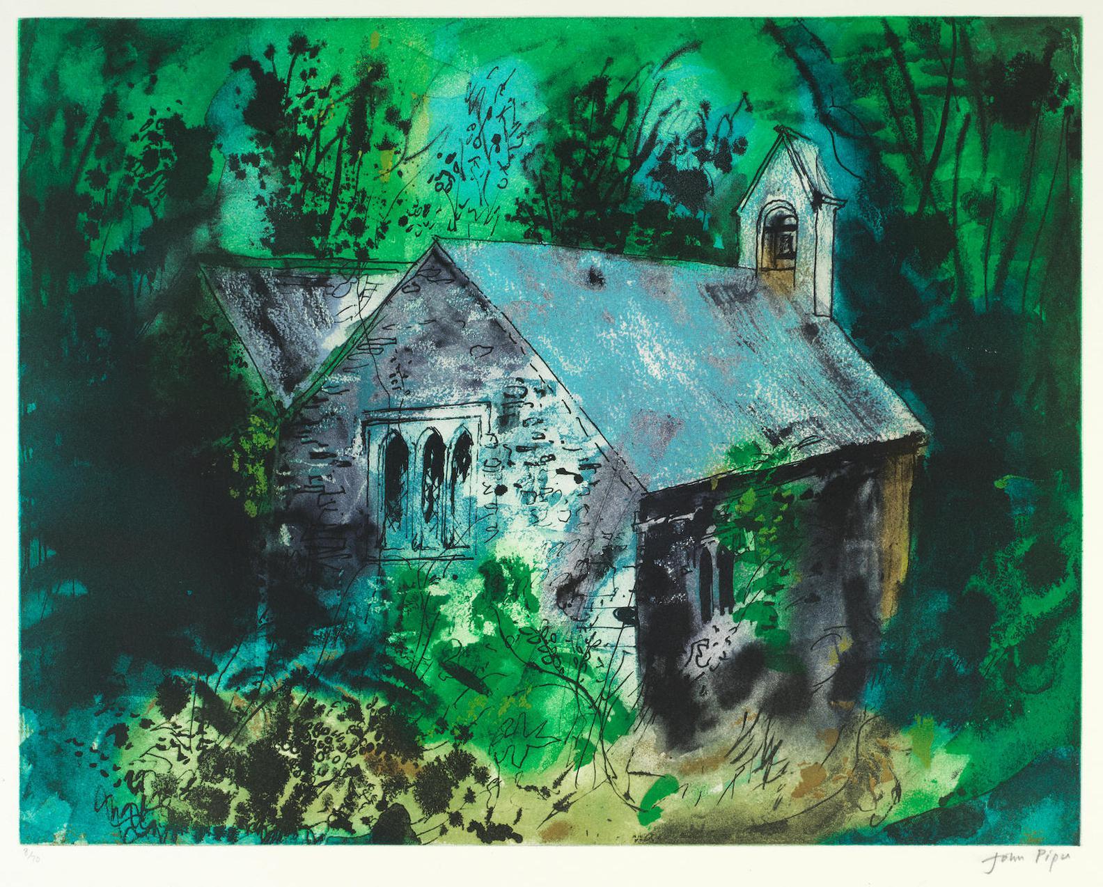 John Piper-Old Church Of Mynachlogddu (Levinson 399)-1987