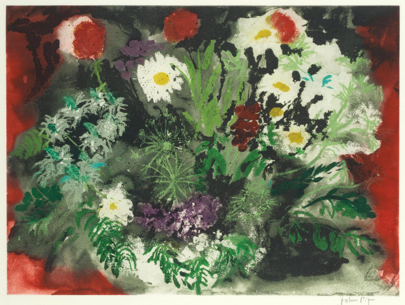 John Piper-Late Summer Flowers (Levinson 419)-1989