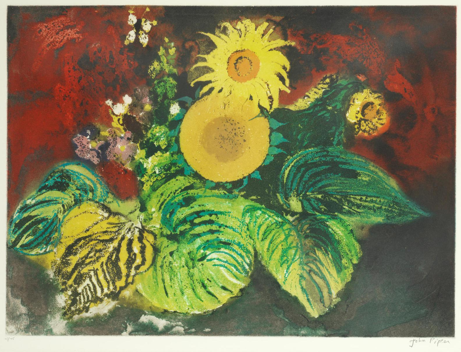 John Piper-Sunflowers (Levinson 420)-1989