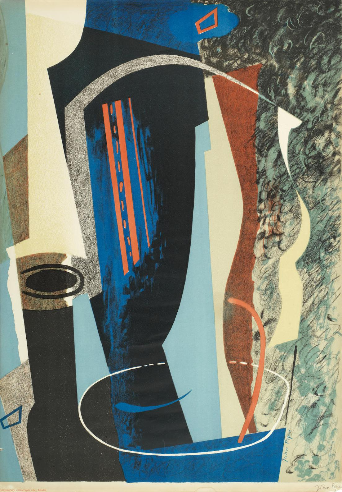 John Piper-Abstract Composition (Levinson 7)-1936
