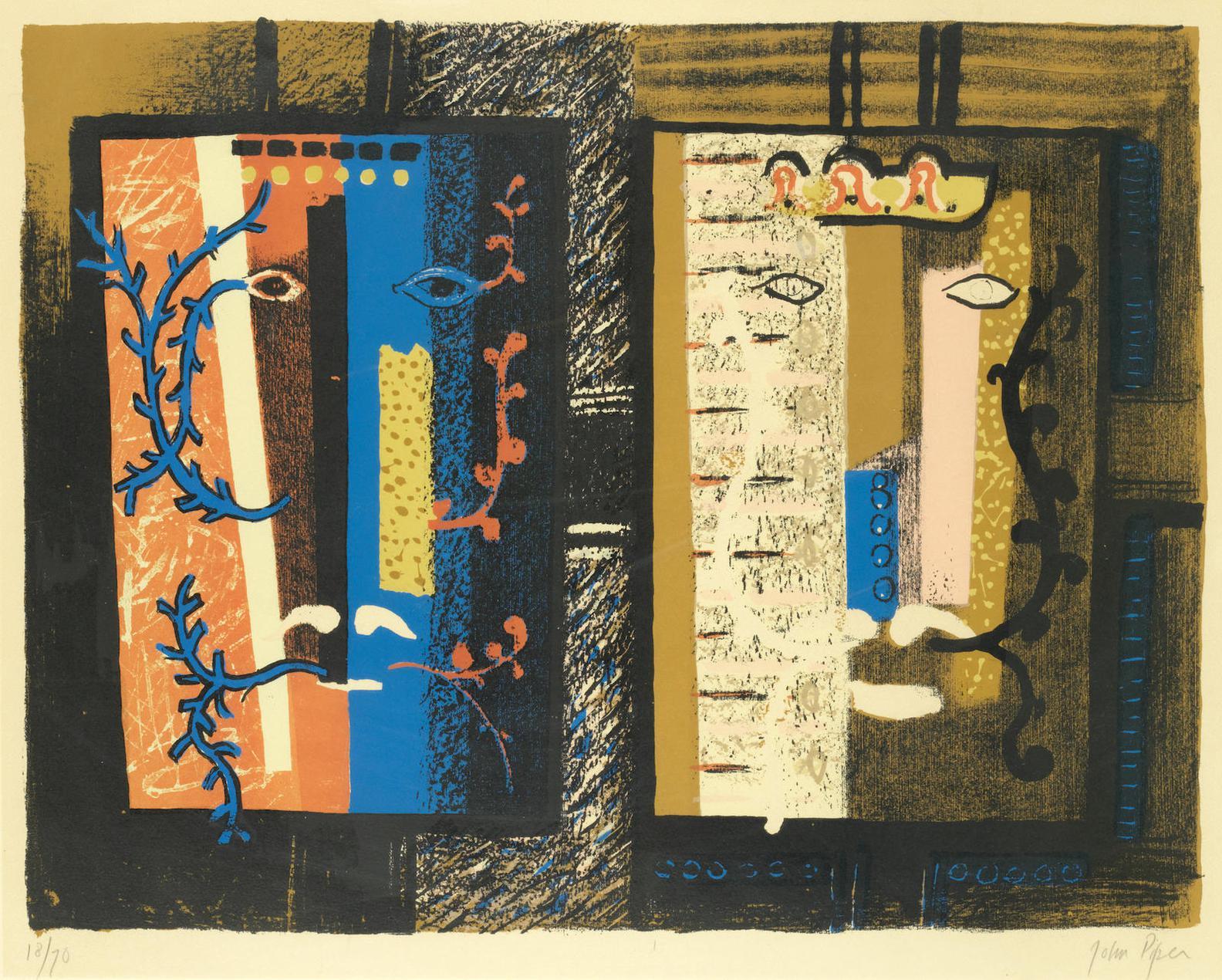 John Piper-Foliate Heads I (Levinson 83)-1953