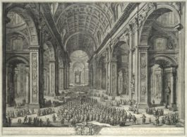 Giuseppe Vasi - St Peters Square; St Peters Interior-1775