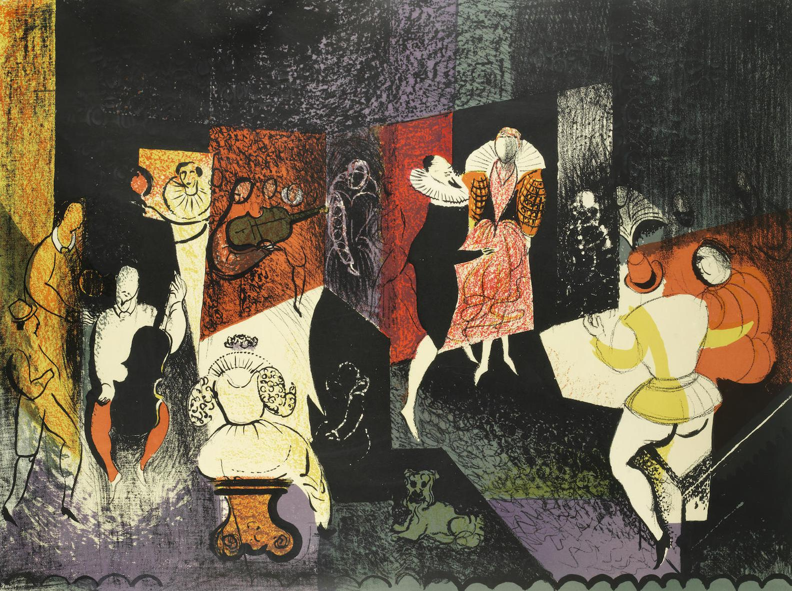 John Piper-Elizabethan Dance (Levinson 87)-1954