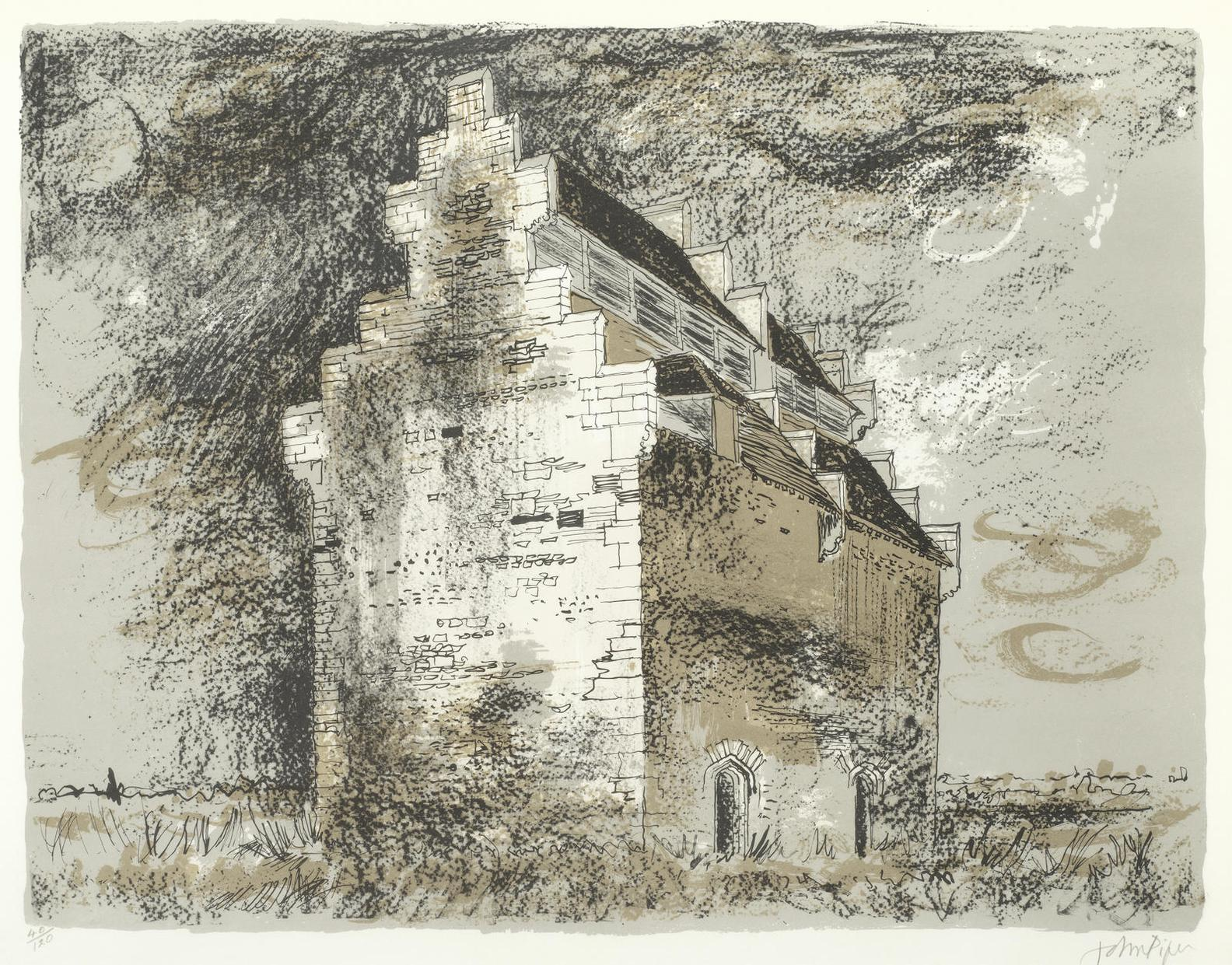 John Piper-Willington Dovecote, Bedfordshire (Levinson 286)-1978