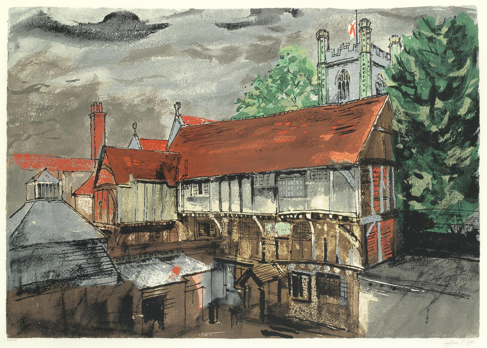 John Piper-Chantry House, Henley (Levinson 352)-1983