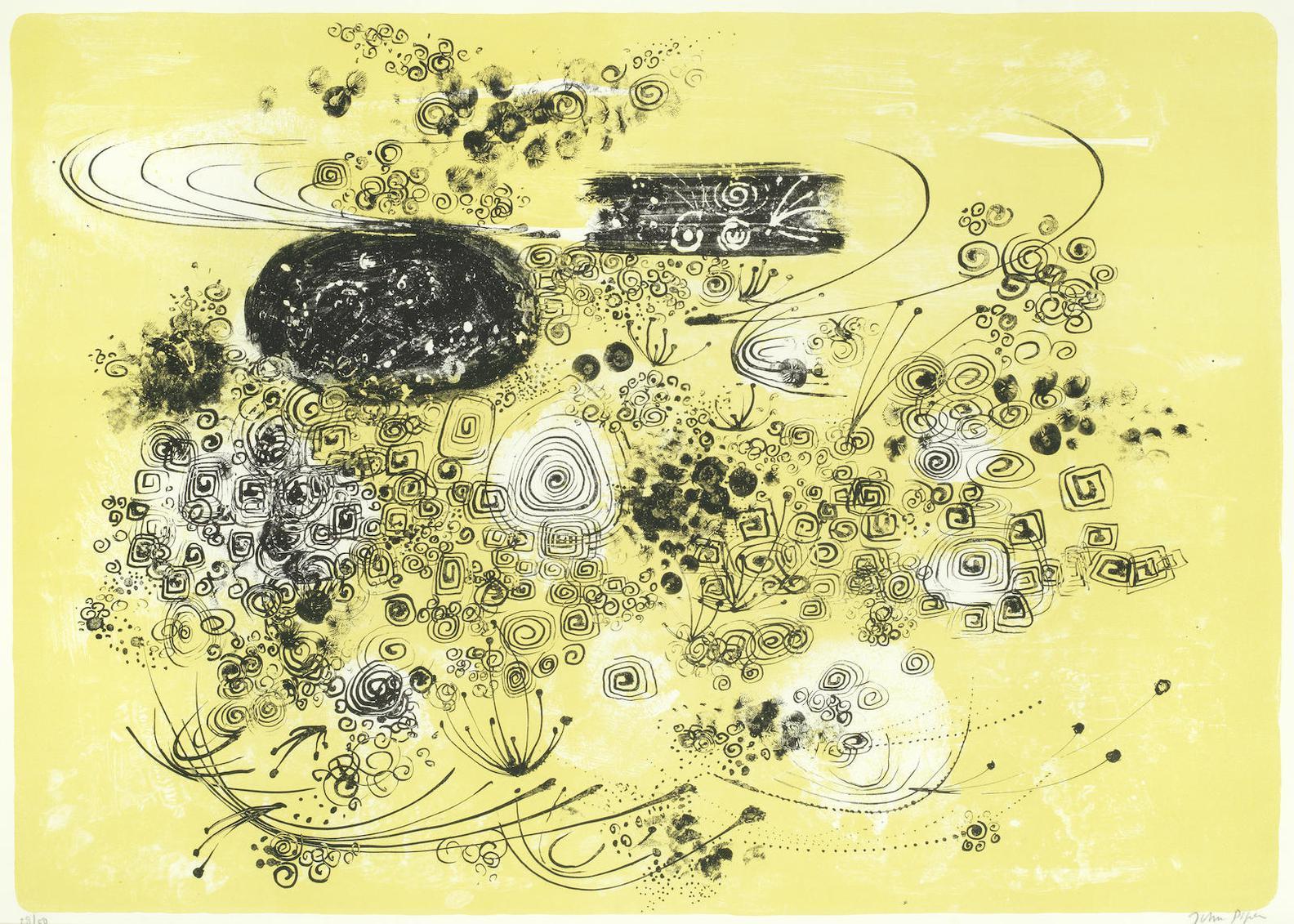 John Piper-Florence Relief Landscape (Levinson 184)-1967