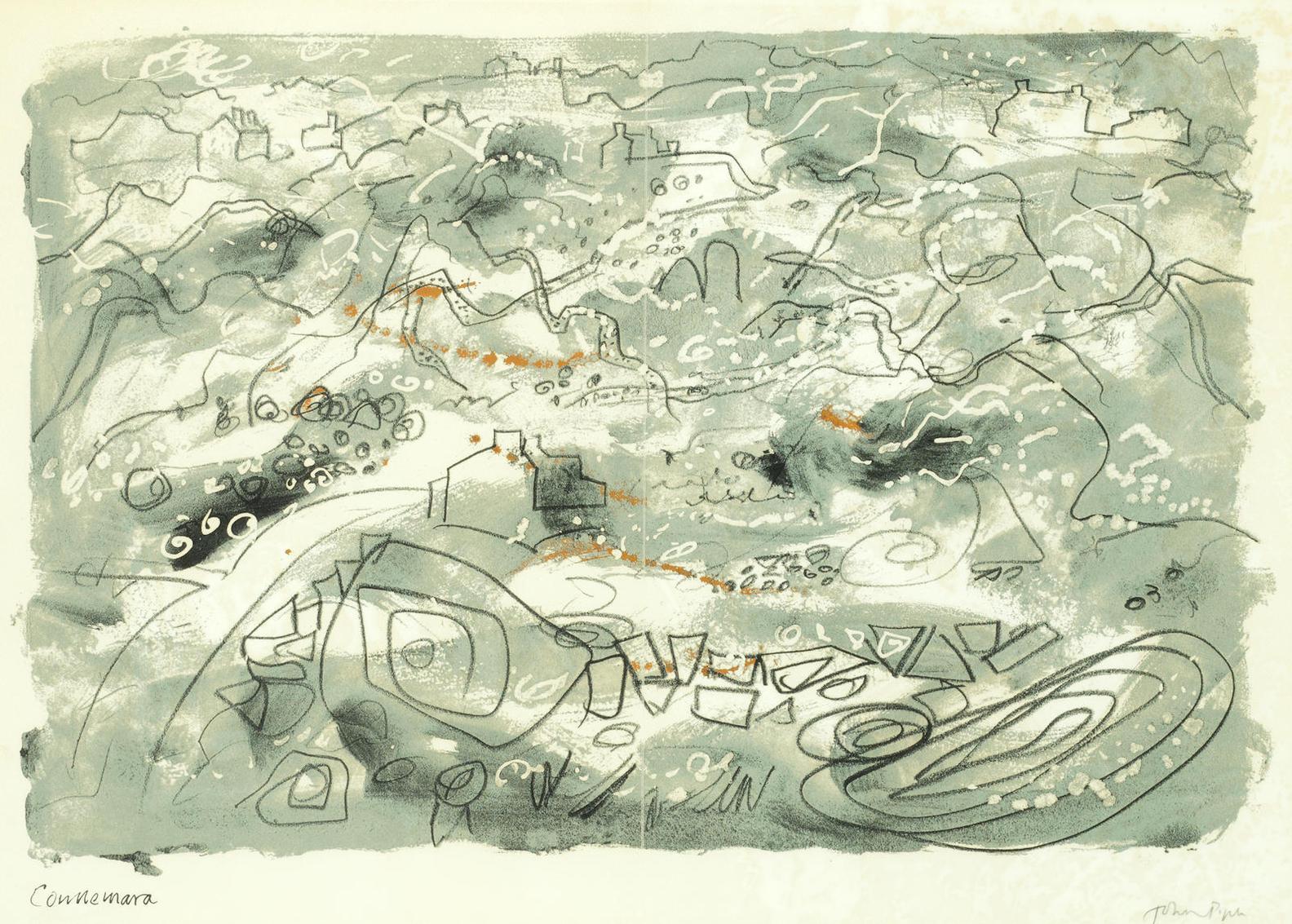 John Piper-Stones And Bones XIV (Levinson 303)-1978