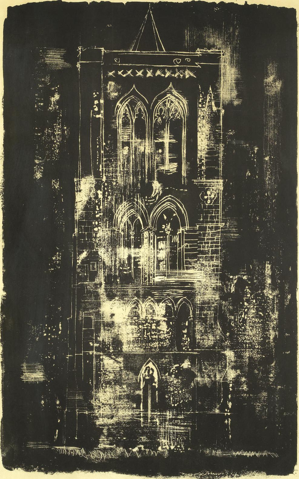 John Piper-Gedney, Lincolnshire, From A Retrospect Of Churches (Levinson 139)-1964