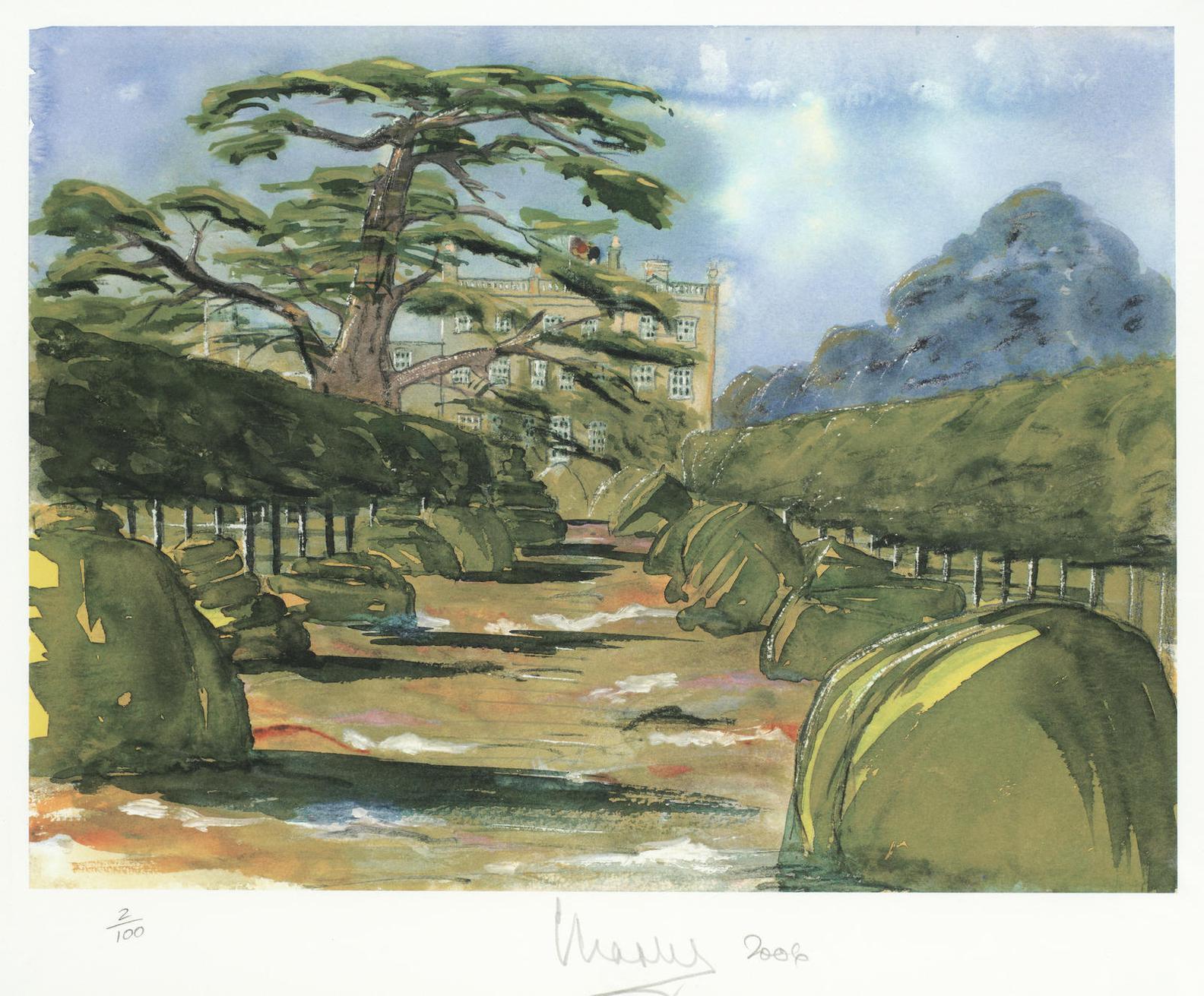 Hrh Prince Of Wales - Highgrove And The Cedar Tree-2002