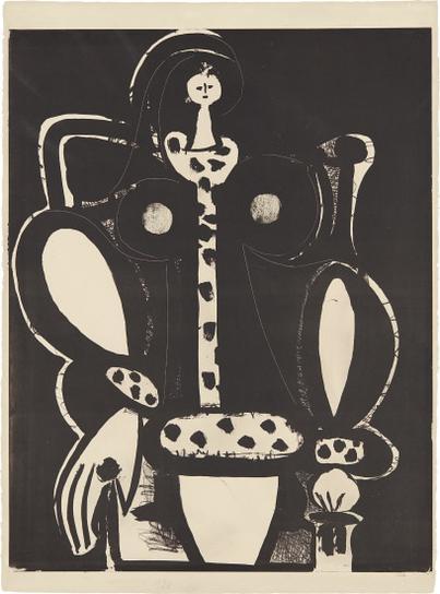 Pablo Picasso-Femme Au Fauteuil (Dapres Le Noir) (The Armchair Woman, From The Black)-1948
