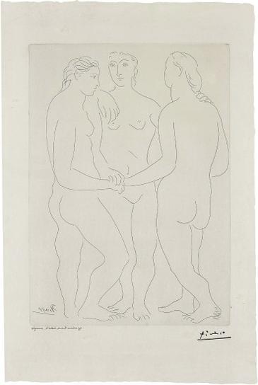 Pablo Picasso-Les Trois Amies (The Three Friends)-1927