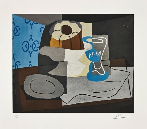 Pablo Picasso-After Pablo Picasso - Nature Morte A La Charlotte (Still-Life With A Charlotte Cake)-1960