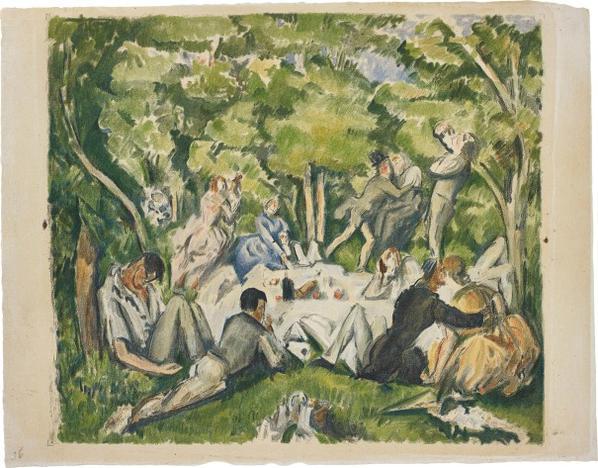 Paul Cezanne-After Paul Cezanne - Le Dejeuner Sur Lherbe (Lunch On The Grass)-1914