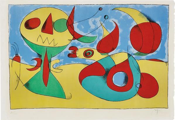 Joan Miro-Oiseau Zephyr (Zephyr Bird)-1960