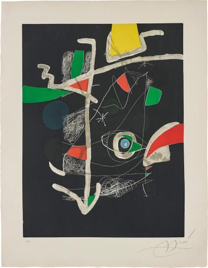 Joan Miro-Untitled, Plate VI From Llibre Dels Sis Sentis (Book Of The Six Senses)-1981