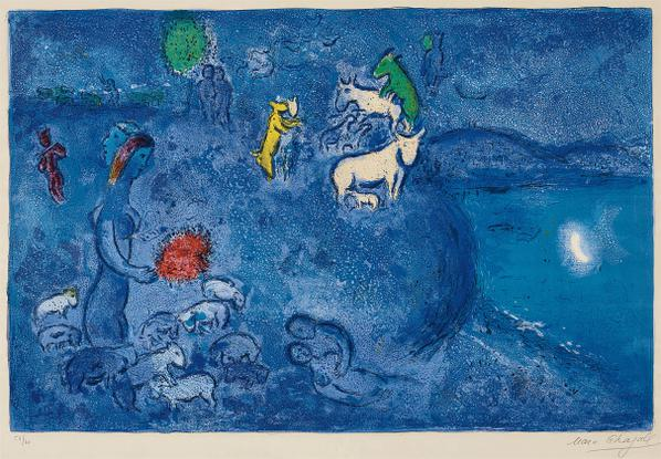 Marc Chagall-Le Printemps (Spring), Plate 28 From Daphnis Et Chloe-1961