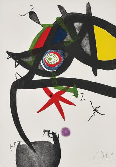 Joan Miro-Quatre Colors Aparien El Mon (Four Colours Will Beat The World): One Plate-1975