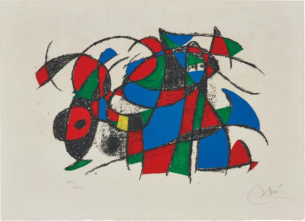 Joan Miro-Joan Miro Lithographs II: One Plate-1975