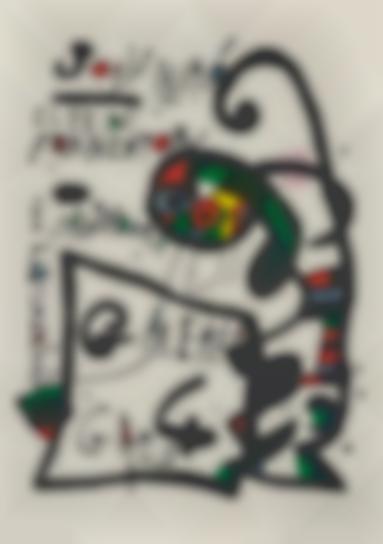 Joan Miro-Untitled, For El Pi De Formentor: Galeria 4 Gats (The Pine Of Formentor)-1976