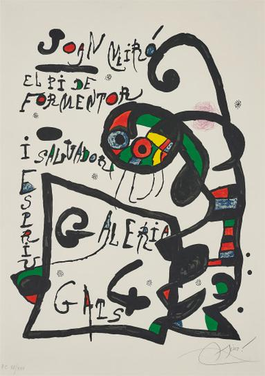 Joan Miro-Untitled, For El Pi De Formentor: Galeria 4 Gats (The Pine Of Formentor)-1976