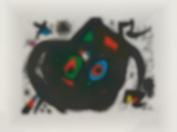 Joan Miro-Untitled, Plate 5 From Homenatge A Joan Prats (Tribute To Joan Prats)-1971
