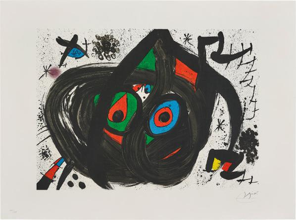 Joan Miro-Untitled, Plate 5 From Homenatge A Joan Prats (Tribute To Joan Prats)-1971
