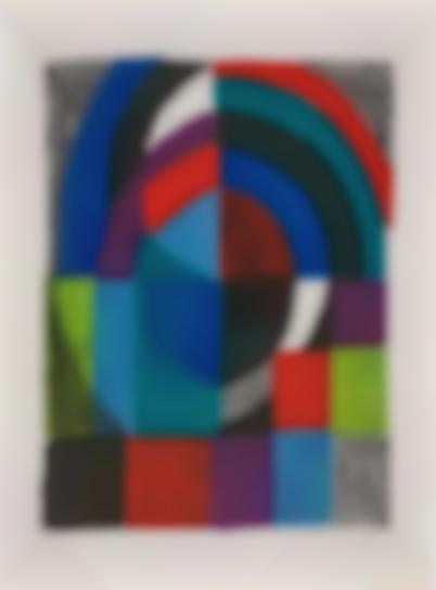 Sonia Delaunay-Cathedrale (Cathedral)-1971