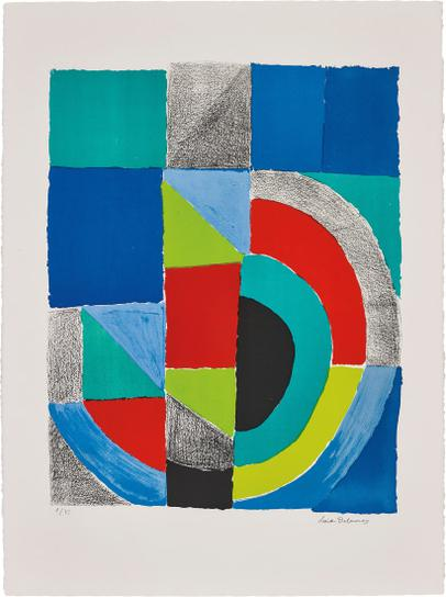 Sonia Delaunay-Rectangle Rouge (Red Rectangle)-1970