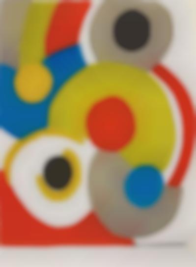 Sonia Delaunay-Ballons Multicolores (Multicoloured Balloons)-1970