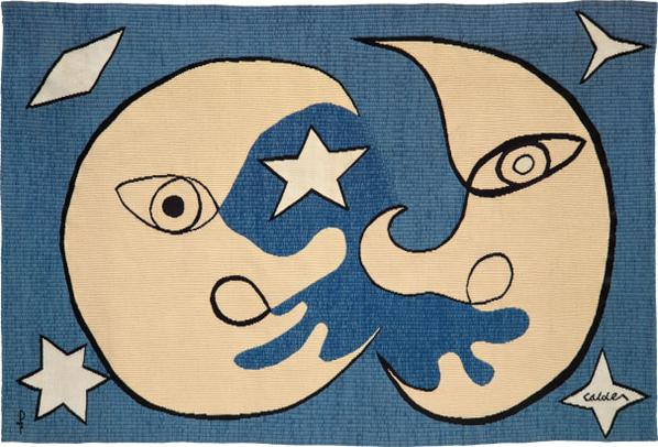 Alexander Calder-Lune Et Soleil, Fond Dazur (Moon And Sun, On A Blue Background)-circa 1970