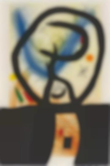 Joan Miro-La Fronde (The Sling)-1969
