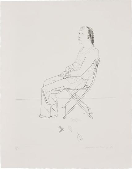 David Hockney-Mo With Five Leaves-1971