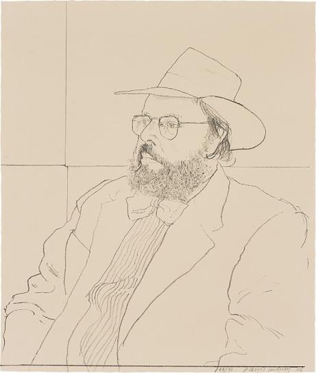 David Hockney-Henry Geldzahler With Hat, From Friends-1976
