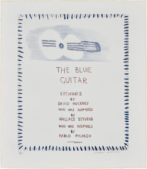 David Hockney-The Blue Guitar, From The Blue Guitar-1977