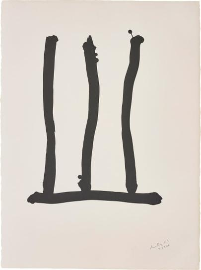 Robert Motherwell-Window, From Hommage A Picasso-1973