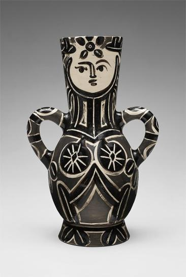 Pablo Picasso-Vase Deux Anses Hautes (Vase With Two High Handles, The Queen)-1953