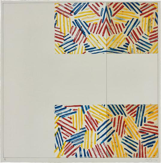 Jasper Johns-#2 (After Untitled 1975), From 6 Lithographs (After Untitled 1975)-1976