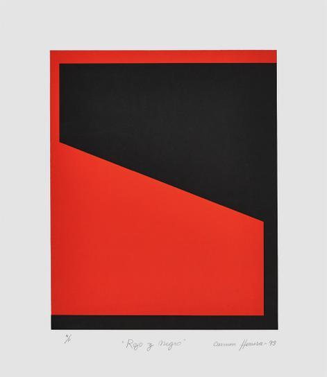 Carmen Herrera-Rojo Y Negro (Red And Black)-1993