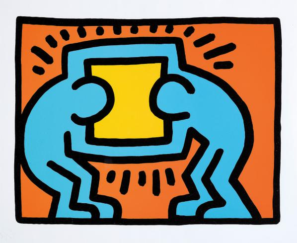Keith Haring-Pop Shop VI: One Plate-1989
